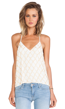 keepsake Little Talk Tank in Ivory & Gold
