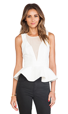 keepsake First in Line Top in Ivory/Nude