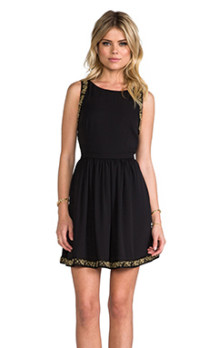 Ladakh Gala Crepe Dress in Black