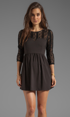 Ladakh Intermix Lace Dress in Black