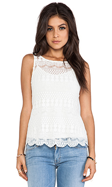 Ladakh Havisham Lace Top in White