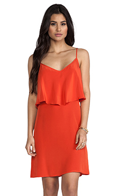 LA Made Silk Ruffle Tank Dress in Sunbeam