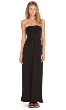 LA Made Convertible Tube Dress in Black