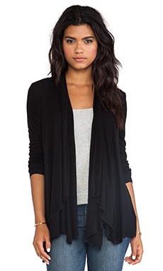 LA Made Drape Cardigan in Black