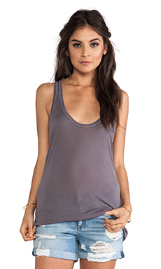 SHEER JERSEY SCOOP RACERBACK TANK