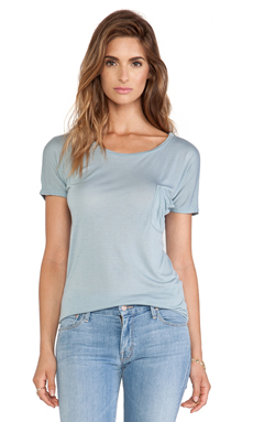 LA Made Drop Shoulder Tee in Dusty Azul