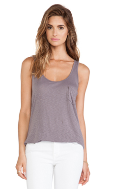 LA Made Slub Boyfriend Tank in Lunar Grey