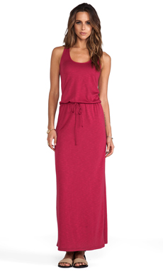 Lanston Racerback Maxi Dress in Rouge