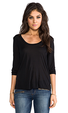 Lanston Surplice Back Blouse in Black