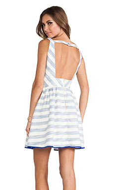 Line & Dot Kelly Dress in Sky Stripe