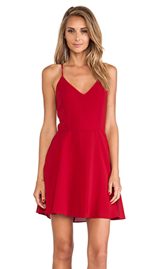 Line & Dot Blonde Ambition Mini Dress in Maroon