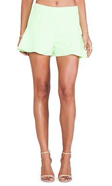 Line & Dot Mini Skort en Neon Lime