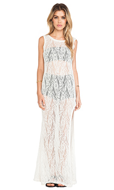 LENNI Splinter Lace Dress in Cream