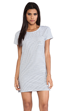 L'AMERICA Easy Peazy Jersey Dress in Narrow Stripe