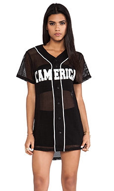 L'AMERICA Dream Team Basketball Dress in Black & White