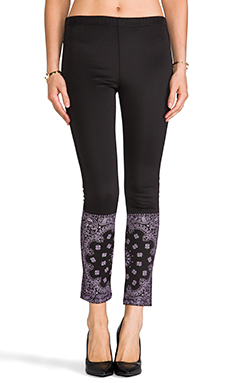 L'AMERICA Mo Money Mo Problems Leggings in Black