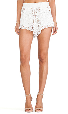 LoveShackFancy True Waist Short in Ivory
