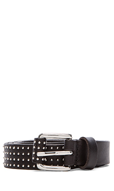 Linea Pelle Studded Skinny Hip Belt in Black