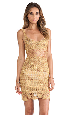 THE LEFT TURN CROCHET MINI DRESS