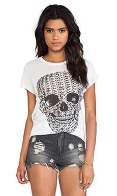 Lauren Moshi Edda Pill Skull Vintage Tee in Natural