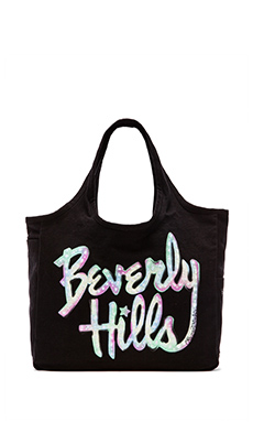 Lauren Moshi Taylor Color Beverly Hills Tote Bag in Black
