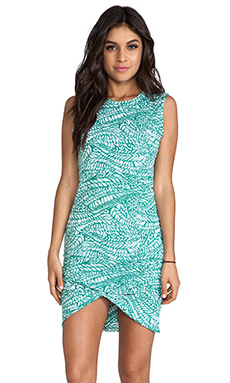 LNA Palm Dress in Leaf