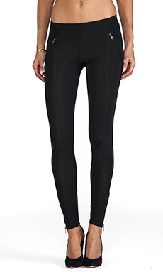 LNA Mara Zipper Legging in Black