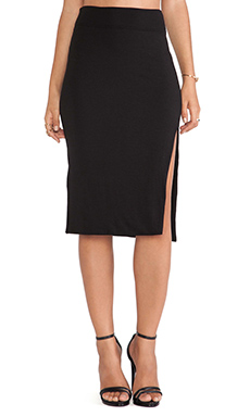 LNA April Slit Skirt in Black