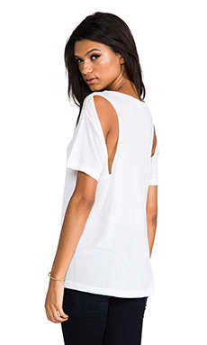 LNA Dixion Cutout Tee in White
