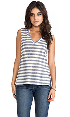 LNA Fasana Tank in Navy Stripe