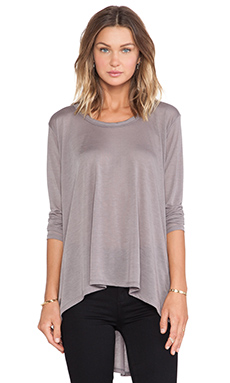 LNA Danica Long Sleeve Top in Grey
