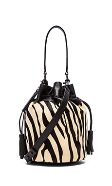 Loeffler Randall Industry Bag in Zebra & Black