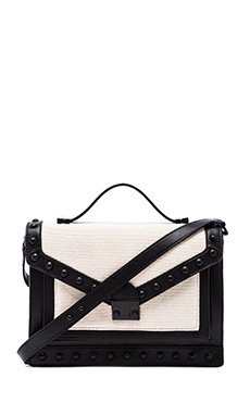 Loeffler Randall Rider Satchel in Natural/Black