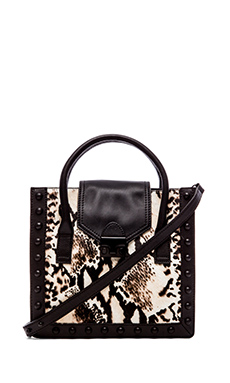 Loeffler Randall Junior Work Tote in PYT Print & Black
