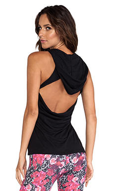 Lorna Jane Mikki Hooded Tank in Black