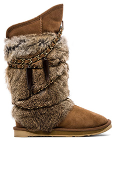 Australia Luxe Collective Rabbit Atilla Fur in Chestnut