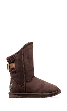 Australia Luxe Collective Spartan Knit Short Boot with Sheep Shearling in Beva