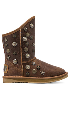 Australia Luxe Collective Angel Short Boot with Sheepskin in Chestnut