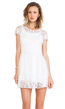 Lovers + Friends Only the Young Dress in White