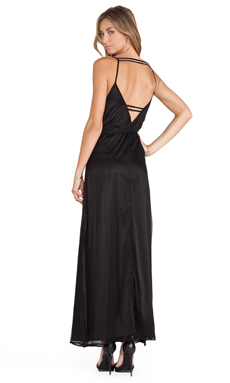 Lovers + Friends Back in Love Maxi Dress in Black
