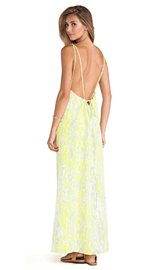 Lovers + Friends Golden Light Maxi Dress en Abstract Yellow