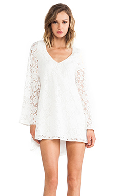 Lovers + Friends Holly Dress in White Lace