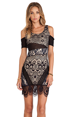 Lovers + Friends Right Now Bodycon Dress in Black