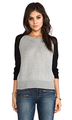 Lovers + Friends for REVOLVE Jordan Pullover in Heather Grey & Black