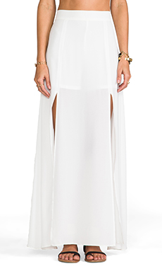 Lovers + Friends Pandora Maxi Skirt in White