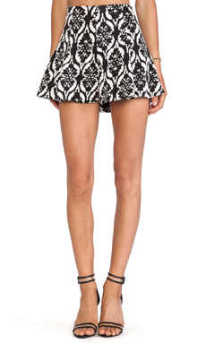Lovers + Friends Tatum Skirt in Black & White