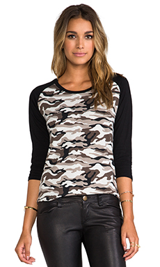Lovers + Friends for REVOLVE Baseball Tee in Grey Camo