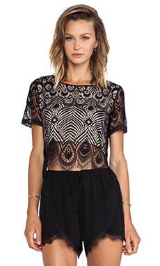 Lovers + Friends Affair Crop Top en Noir