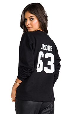 LPD NYC Jacobs Crew Neck Sweatshirt in Black