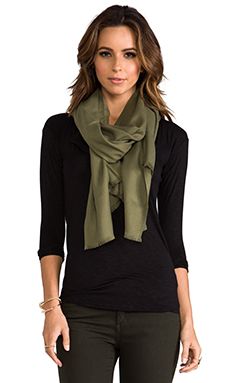 Love Quotes Rayon Eyelash Scarf in Loden